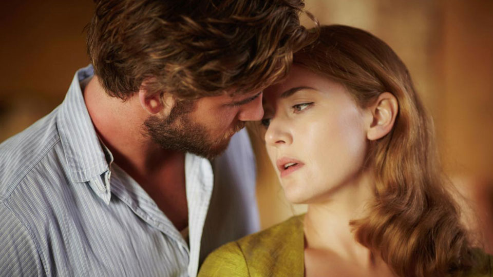 Teddy (Liam Hemsworth), Myrtle (Kate Winslet)