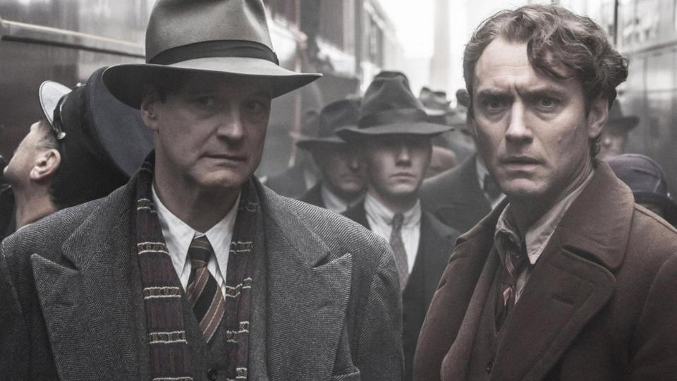 Maxwell Perkins (Colin Firth) und Thomas Wolfe (Jude Law)