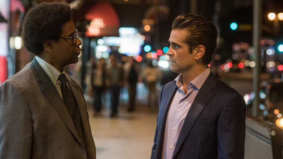 Roman J. Israel, Esq. (Denzel Washington) und George Pierce (Colin Farrell)