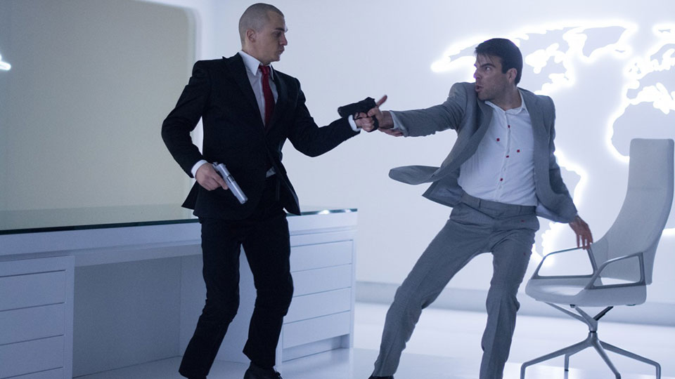 Agent 47 (Rubert Friend), John Smith (Zachary Quinto)